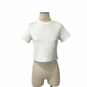 Fashion Union- White Quilted Boxy Top Size XS.